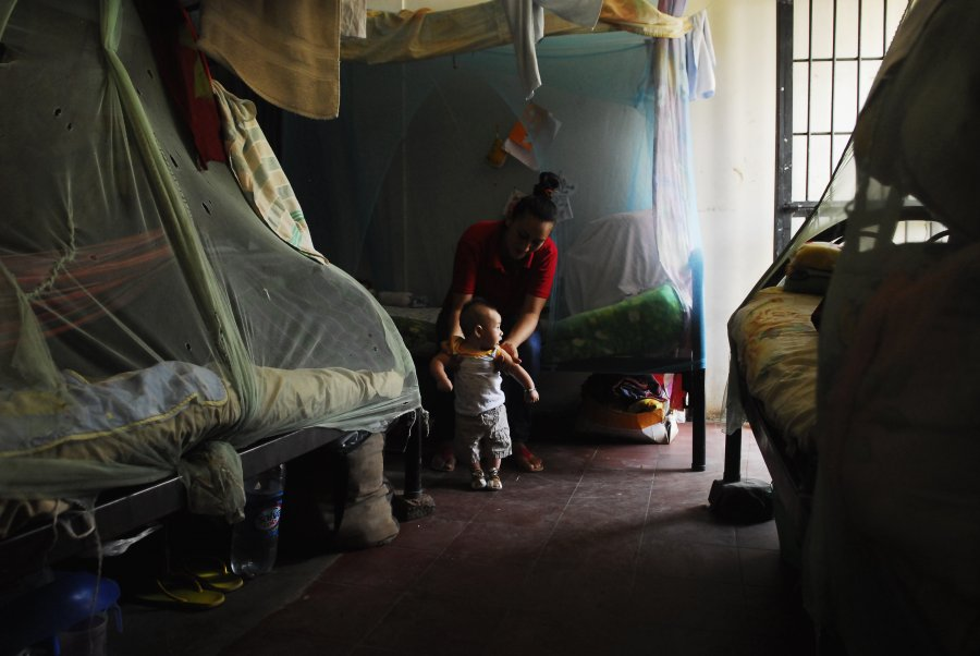 300 mothers live in Ilopango, where children can stay with their jailed mothers inside the prison until they turn 5.