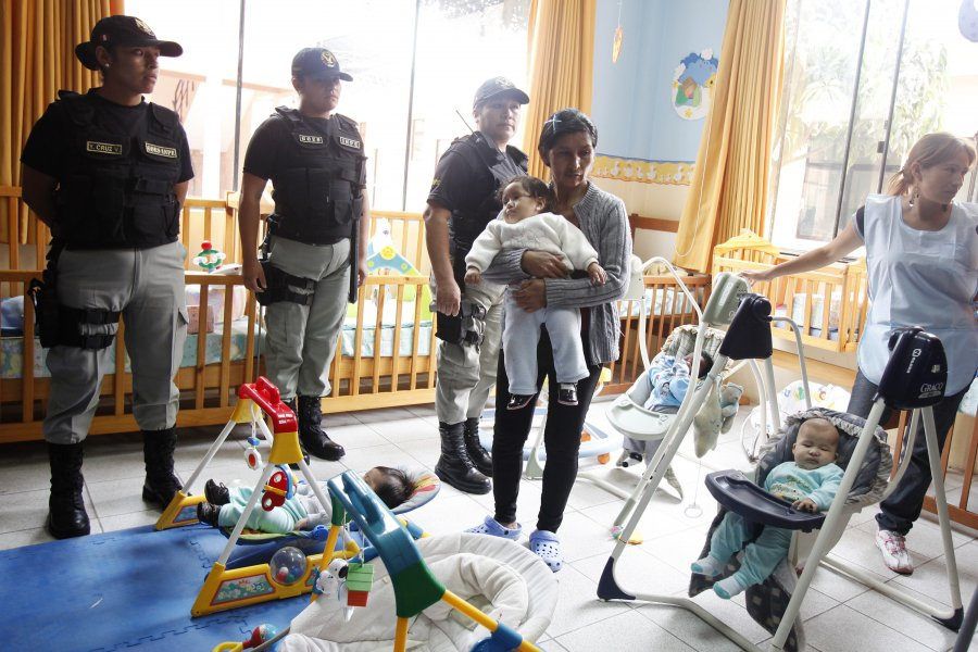 A prison in Lima, Peru opened a new nursery this month to offer better care for the 40 children there who are allowed to stay with their imprisoned mothers until they turn 3.