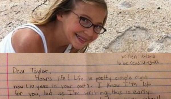Μετά το θάνατο της 12χρονης κόρης τους, βρήκαν το γράμμα που είχε γράψει στο μελλοντικό εαυτό της.