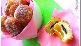 Ντόνατς γεμιστά με σοκολάτα.Μια συνταγή βήμα βήμα που θα σας ενθουσιάσει