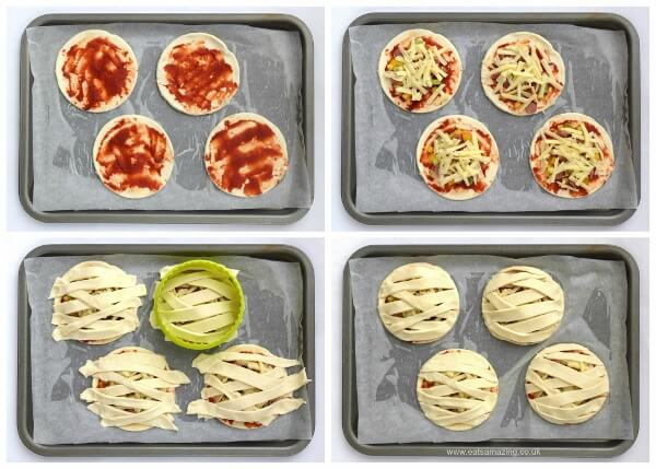 Mummy-Puff-Pastry-Pizza-Pies-fun-Halloween-food-idea-for-kids-from-Eats-Amazing-UK