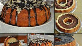 Απολαυστικό κέικ πορτοκαλιού με γέμιση merenda και σάλτσα σοκολάτας!!!