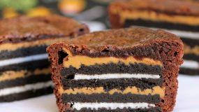 Συνταγή για θεϊκο Brownie με   Oreo & φυστικοβουτυρο