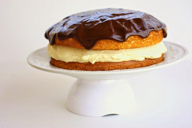 Συνταγη για Boston cream cake