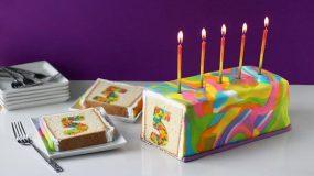 RAINBOW  CAKE γενεθλιων!Συνταγη βημα βημα