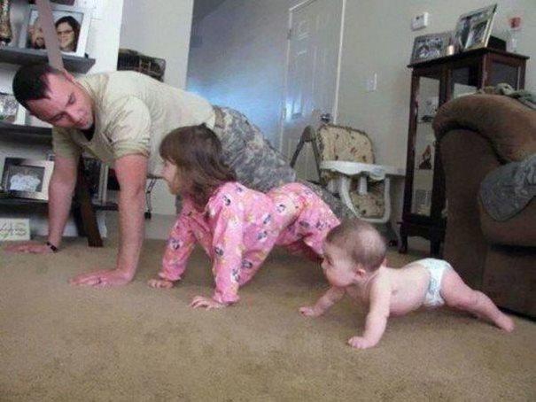 17  μοναδικές φωτογραφίες μπαμπάδων με τα παιδιά τους!