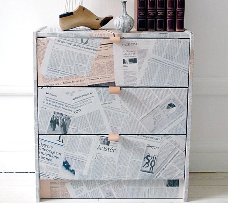 Διακόσμηση και ανακύκλωση με εφημερίδες-ΚΑΤΑΣΚΕΥΗ