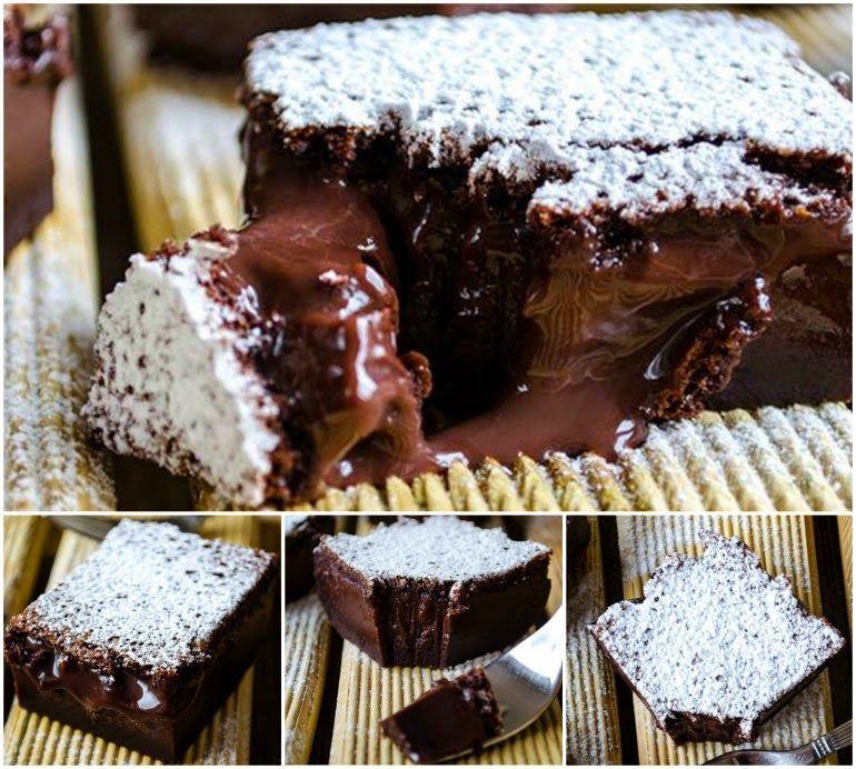 σοκολατένιο κέικ ρευστό