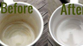 Με τι θα καθαρίσετε τους λεκέδες που σχηματίζονται στα φλιτζάνια;