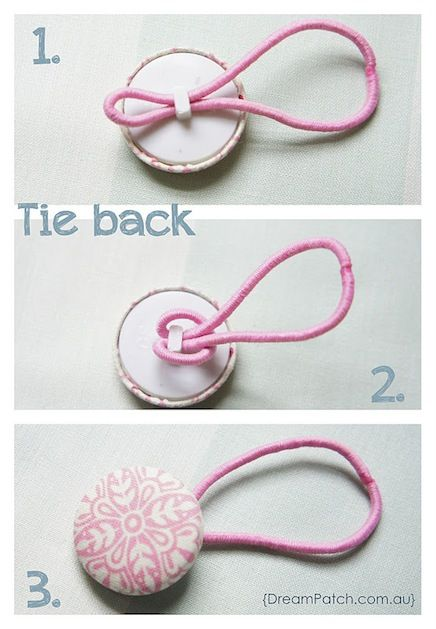 How to make a ponytail holder from a covered button.