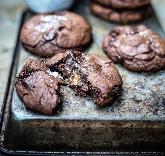 Cookies με nutella και καραμέλα γάλακτος