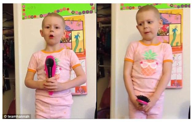 ΣΥΓΚΙΝΕΙ 5χρονη μικρουλα :Μην στεναχωριέστε, αφού είμαι εγώ γενναία με τον καρκίνο, μπορείτε κι εσείς!