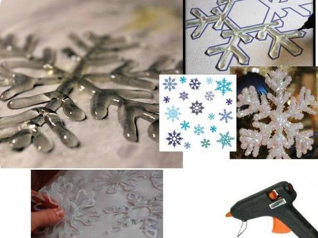 Εύκολα Χριστουγεννιατικα στολίδια από κόλλα σιλικόνης!