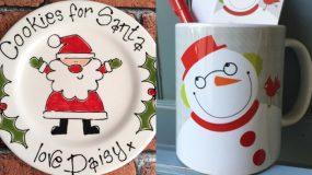 Χειροποίητες Χριστουγεννιάτικες πιατέλες και κούπες : Πως να τις φτιάξεις και ιδέες για να τις διακοσμήσεις