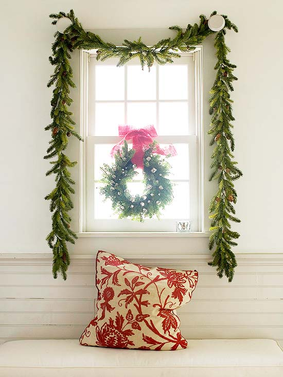 Pair a Similar Wreath and Garland