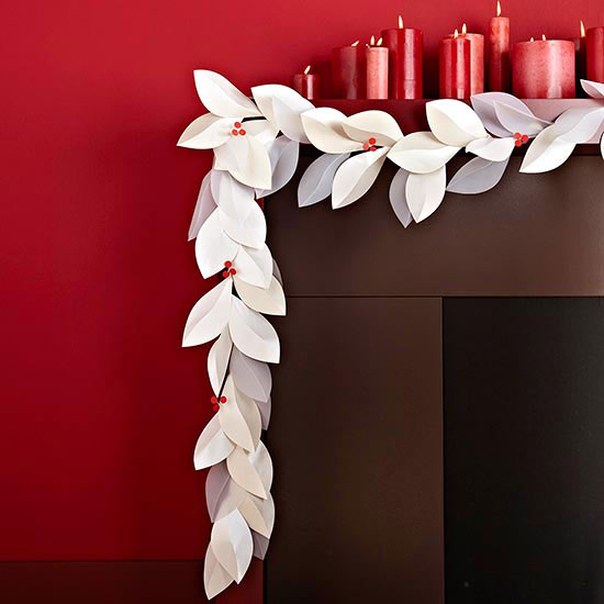 Paper and Vellum Leaf Garland