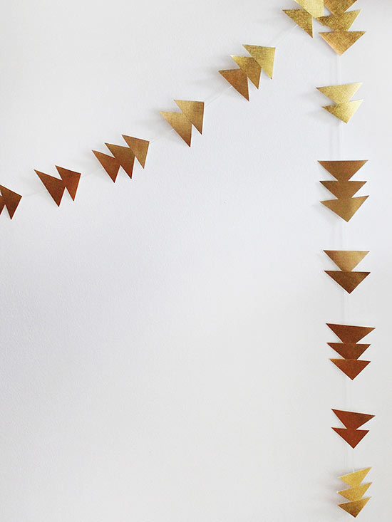 Triangle Gold Garland