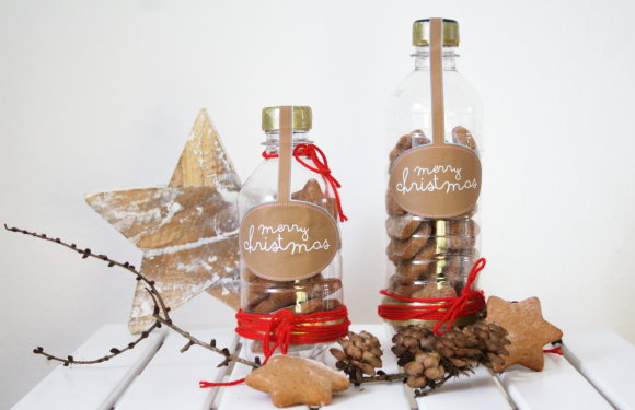 DIY Keksverpackung aus PET Flaschen - Upcycling