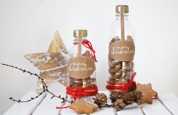 Super  Οικονομική Χριστουγεννιατικη κατασκευή με πλαστικά μπουκαλάκια νερου!Δε θέλει κόπο θέλει τρόπο!