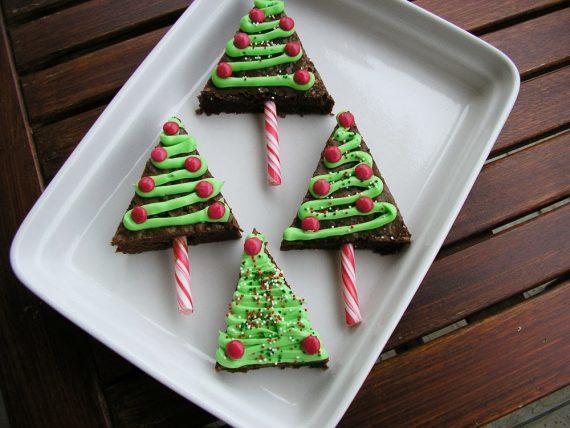 Χριστουγεννιατικα brownies δεντρακια!Συνταγη βημα βημα!