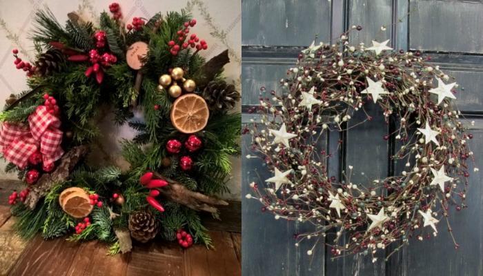 Χριστουγεννιάτικα στεφάνια : Οι καλύτερες ιδέες για τα φετινά Χριστούγεννα