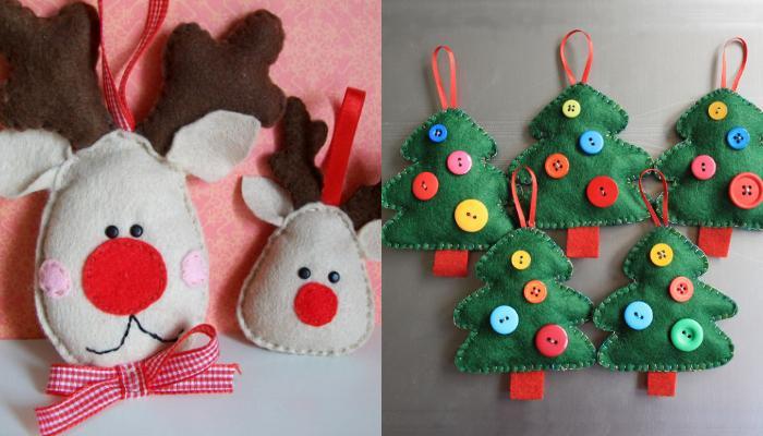 Φτιάξε μόνη σου Χριστουγεννιάτικα στολίδια από τσόχα