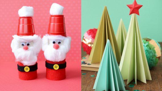 Φτιάξε  Χριστουγεννιάτικες κατασκευές από χαρτί!