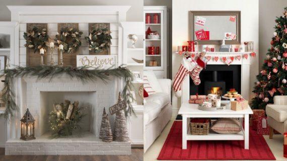 Πανεμορφες Χριστουγεννιατικες ιδεες διακοσμησης για το τζάκι σας