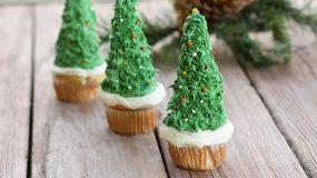 Χριστουγεννιατικα δεντρακια cupcakes !Συνταγη βημα βημα