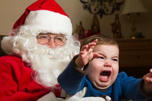 Χριστουγεννιατικες φωτογραφίες παιδιών με τον Άγιο Βασίλη...Για κλαματα!