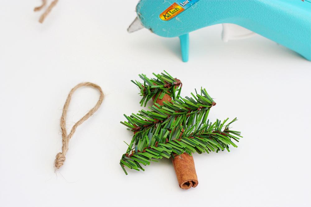 Glue on pine pieces