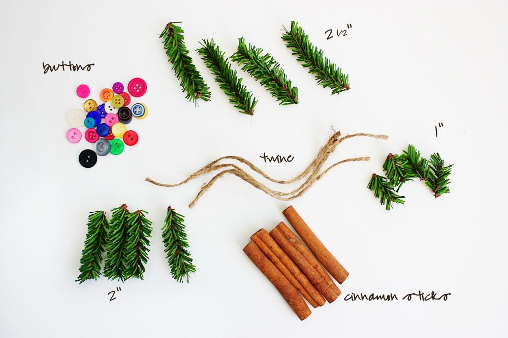 Supplies for Cinnamon Stick Ornaments