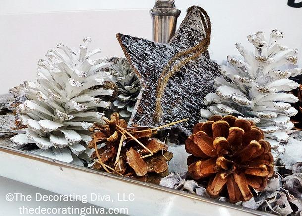 Ιδεες για χριστουγεννιατικη διακοσμηση με κουκουναρια!