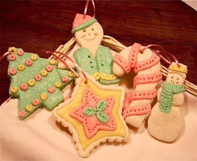 Χριστουγεννιατικα στολιδια απο αλατοζυμη!