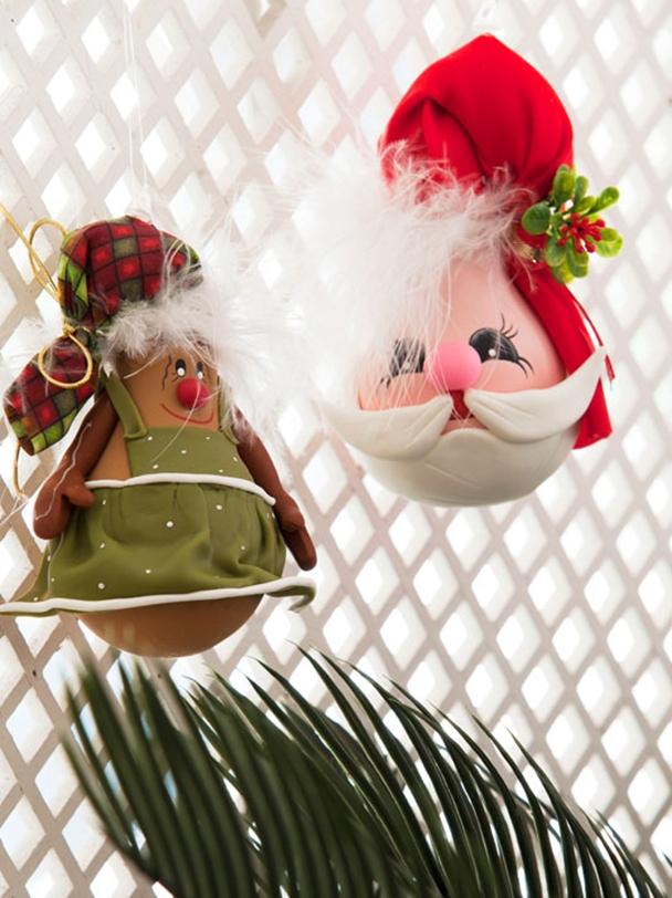 diy christmas ornaments light-bulbs-santa-polymer-clay-beard
