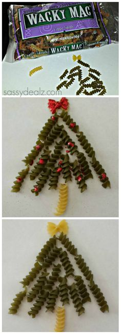 DIY: Noodle Christmas Tree Craft For Kids (Handmade Card Idea) | http://www.sassydealz.com/2013/11/diy-noodle-christmas-tree-craft-for.html