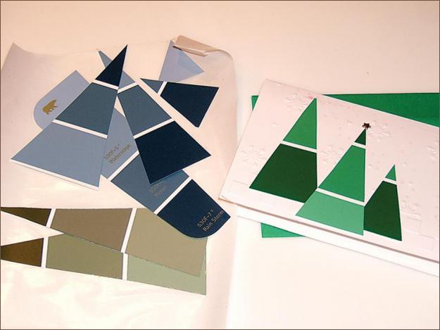Το Paint-Chip Χριστουγεννιάτικη Κάρτα