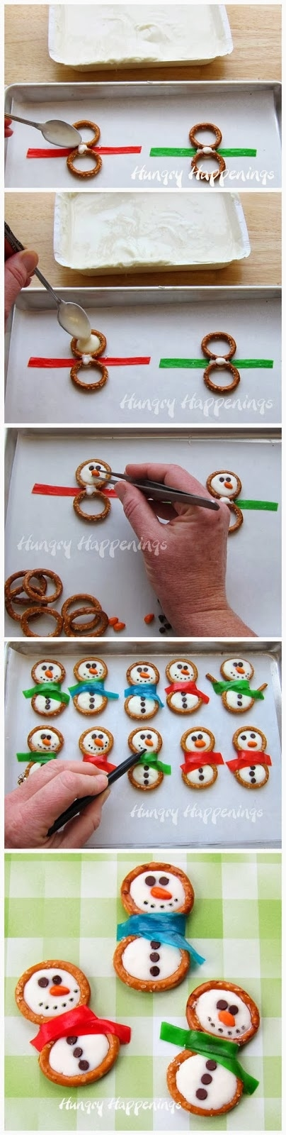 Δαχτυλίδια κουλουράκι, Φρούτα Roll-Ups, και πάγωμα είναι ένας εύκολος τρόπος για να κάνει νόστιμα μπισκότα χιονάνθρωπο.