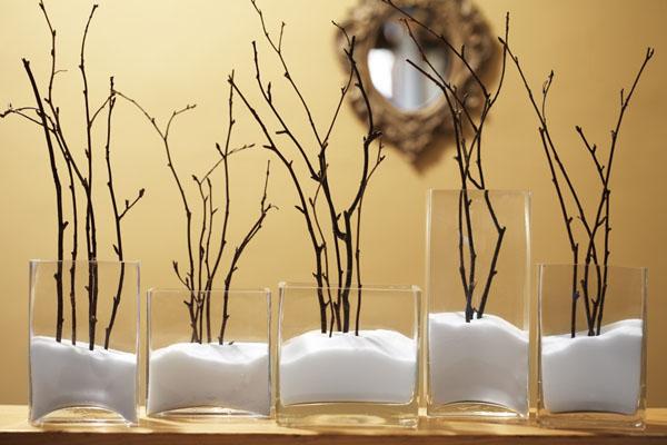 Glass Vases Filled With Salt