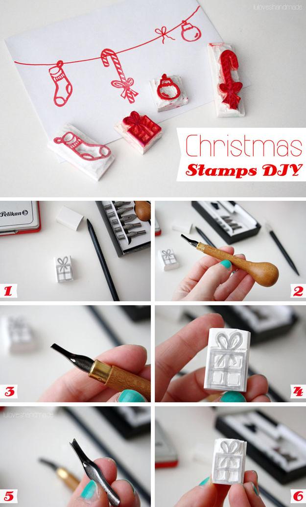 DIY Χριστούγεννα Γραμματόσημα