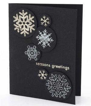 Η Σφραγίδα Κάρτα Μεταλλικό Snowflake