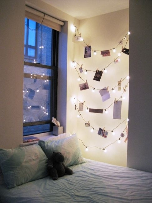 Use them with clothespins to hang photographs.