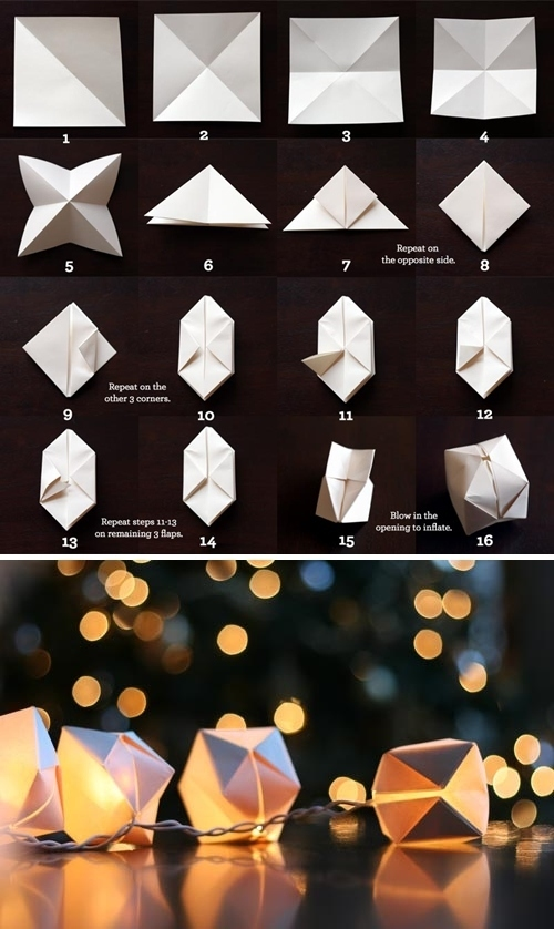 Create a string of paper cube lights.