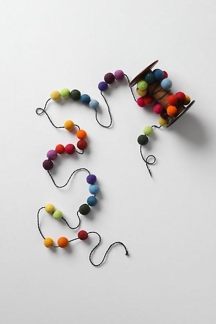 Rainbow Pom-Pom Garlands