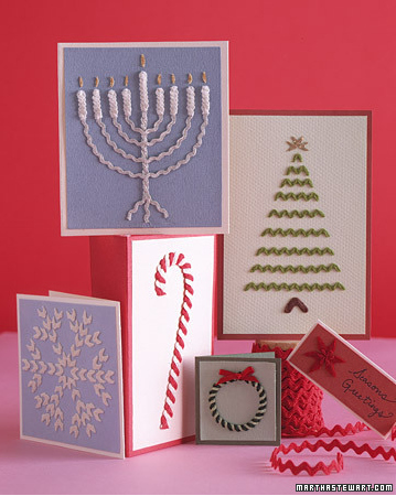 Rickrack Χριστουγεννιάτικες κάρτες