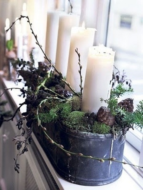 A Rustic Candle Display