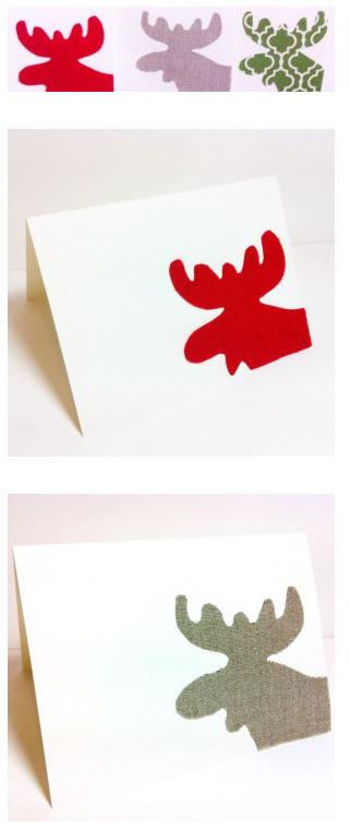Η απλή Moose Χριστουγεννιάτικη Κάρτα
