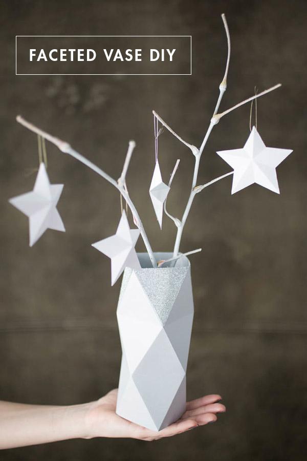 Faceted Paper Vase