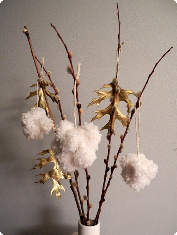 Fluffy Pom-Pom Ornaments