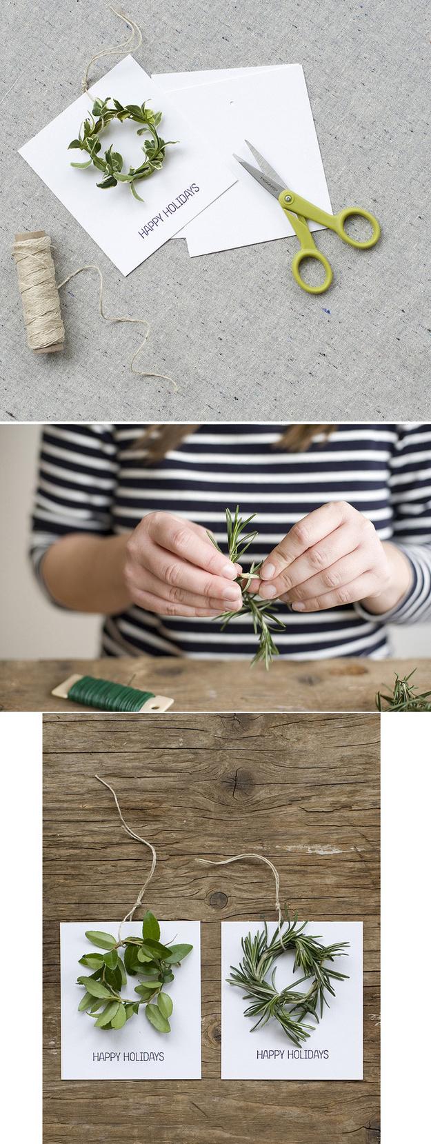 Ένα απλό στεφάνι διακοπών Κάρτα